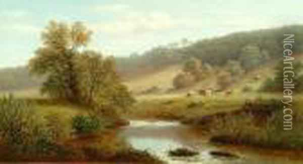 View Near Parbold, Lancashire Oil Painting - William Mellor