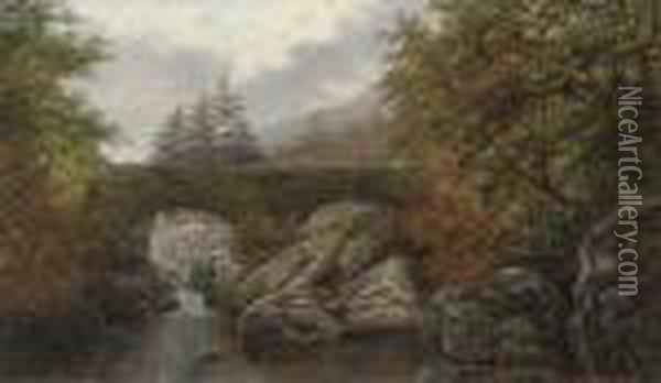 Pont-y-pair, Betws-y-coed, North Wales Oil Painting - William Mellor