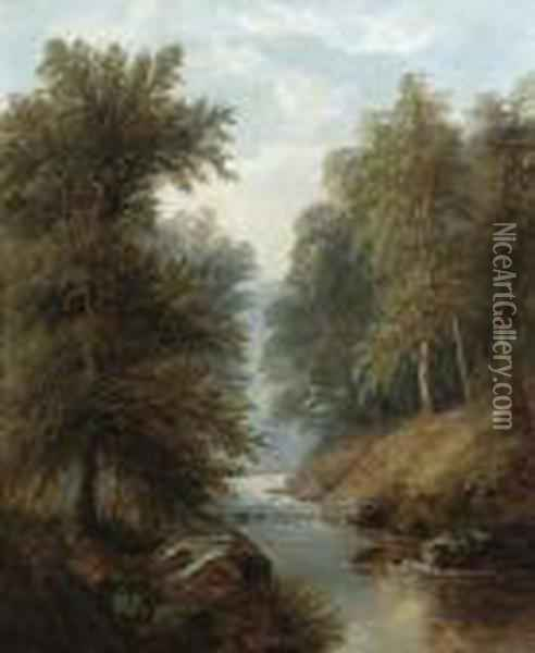 In Bolton Woods Oil Painting - William Mellor
