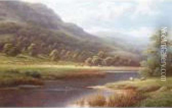 View Near Rydal Lake, Westmoreland Oil Painting - William Mellor