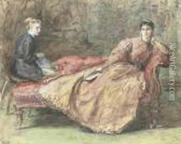 The End Of The Chapter Oil Painting - Sir John Everett Millais