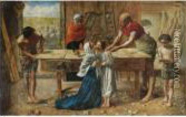 Christ In The House Of His Parents Oil Painting - Sir John Everett Millais