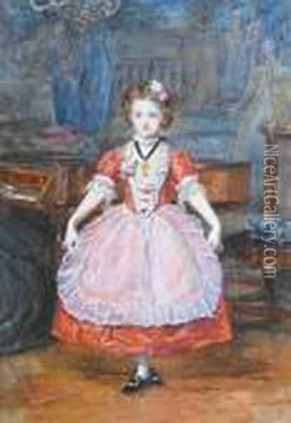 The Minuet Oil Painting - Sir John Everett Millais