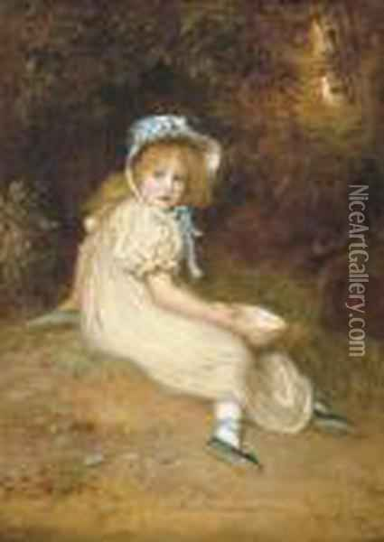 Little Miss Muffet Oil Painting - Sir John Everett Millais
