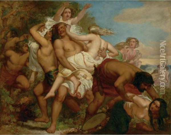 The Tribe Of Benjamin Seizing The Daughters Of Shiloh Oil Painting - Sir John Everett Millais