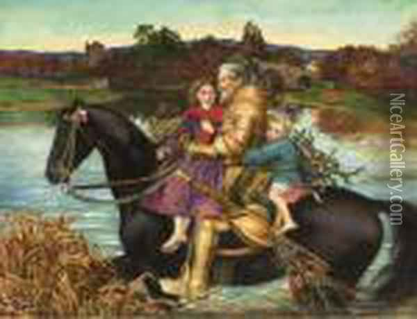 A Dream Of The Past: Sir Isumbras At The Ford Oil Painting - Sir John Everett Millais