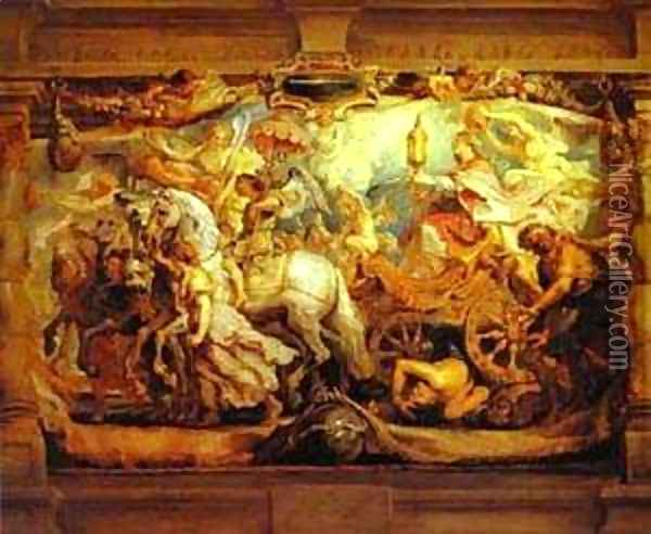The Triumph Of The Church Oil Painting - Peter Paul Rubens