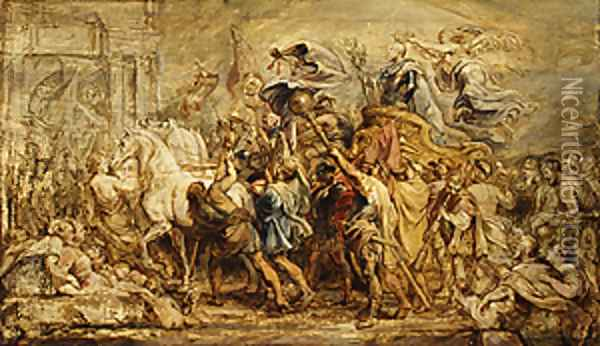 The Triumph of Henry IV sketch 1627 Oil Painting - Peter Paul Rubens