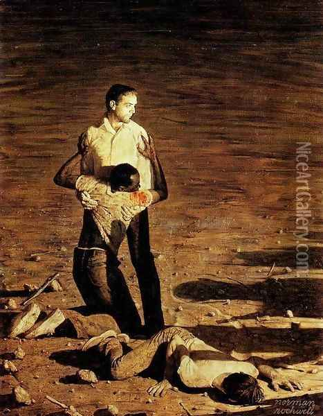 Southern Justice Oil Painting - Norman Rockwell
