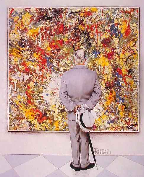 The Connoisseur Oil Painting - Norman Rockwell