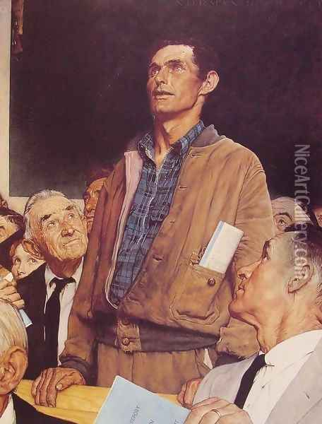 Freedom of Speech Oil Painting - Norman Rockwell