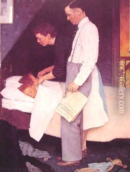Freedom from Fear Oil Painting - Norman Rockwell