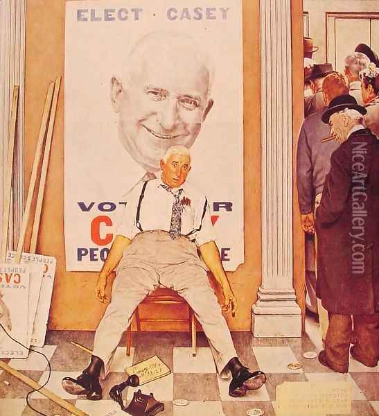 Before and After Oil Painting - Norman Rockwell