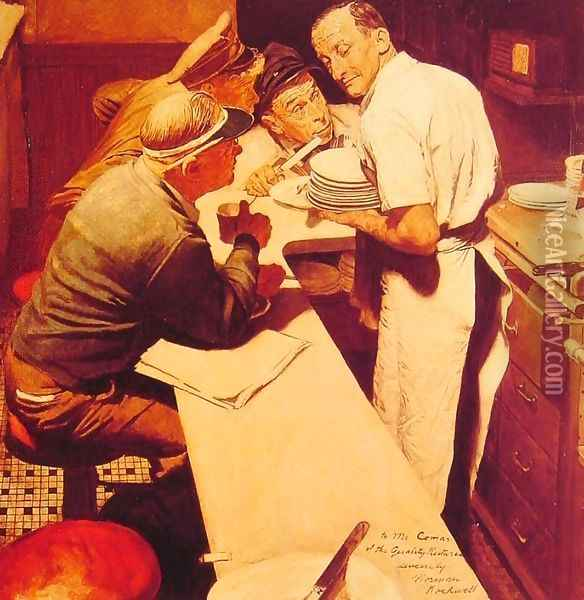 War News Oil Painting - Norman Rockwell