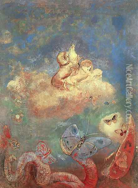 The Chariot of Apollo 1912 Oil Painting - Odilon Redon
