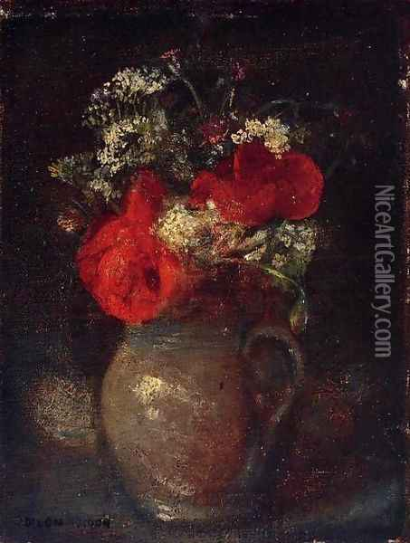 Bouquet Oil Painting - Odilon Redon