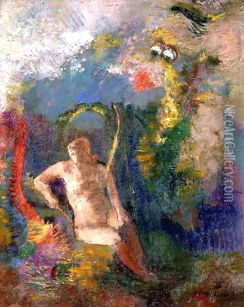 Landscape With Eve Oil Painting - Odilon Redon
