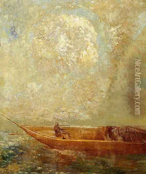 Le Barque Oil Painting - Odilon Redon