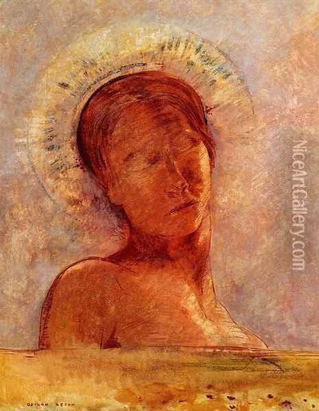 Closed Eyes3 Oil Painting - Odilon Redon