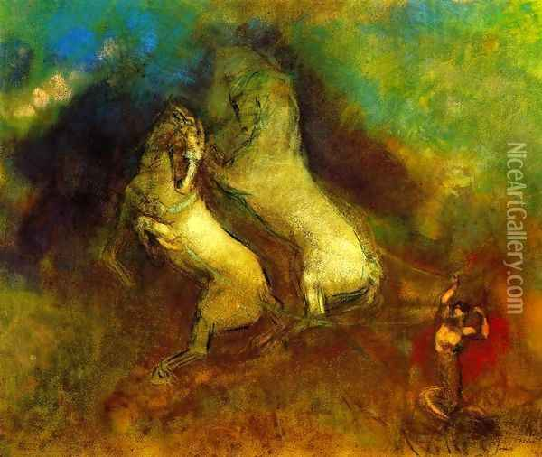 The Chariot Of Apollo3 Oil Painting - Odilon Redon