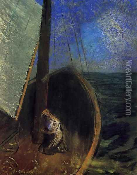 The Boat2 Oil Painting - Odilon Redon