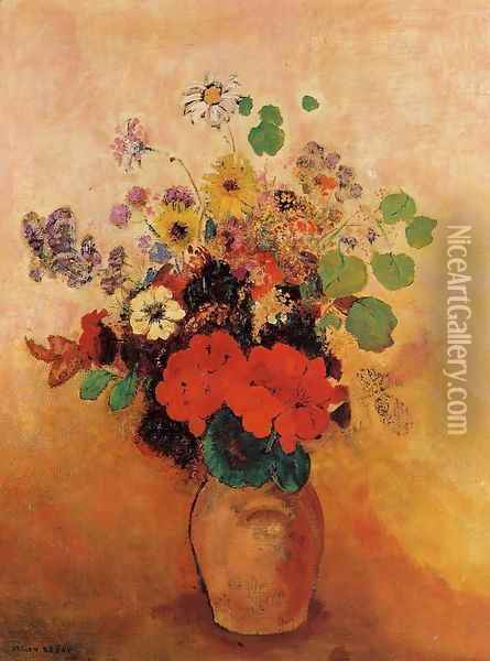 Vase Of Flowers11 Oil Painting - Odilon Redon