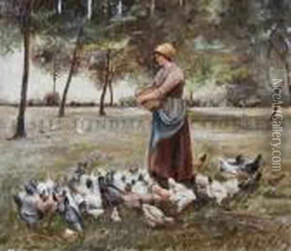 Untitled Oil Painting - Jean-Francois Millet