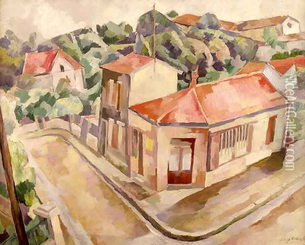 View of Arcueil Oil Painting - Diego Rivera