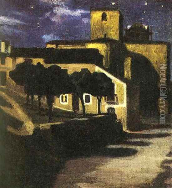 Night Scene in Avila 1907 Oil Painting - Diego Rivera