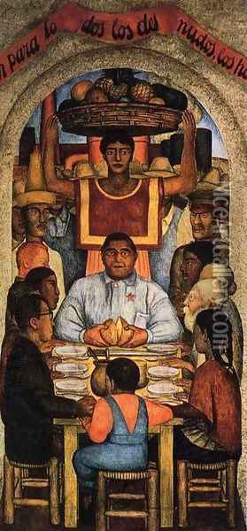 Our Bread 1928 Oil Painting - Diego Rivera