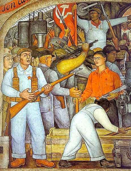 The Arsenal Oil Painting - Diego Rivera