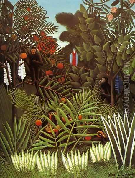Exotic Landscape Oil Painting - Henri Julien Rousseau