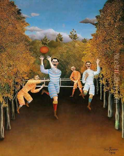 The Football Players Oil Painting - Henri Julien Rousseau