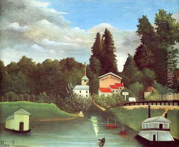 The Mill At Alfor Oil Painting - Henri Julien Rousseau