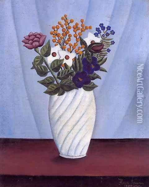 Bouquet of Flowers II Oil Painting - Henri Julien Rousseau