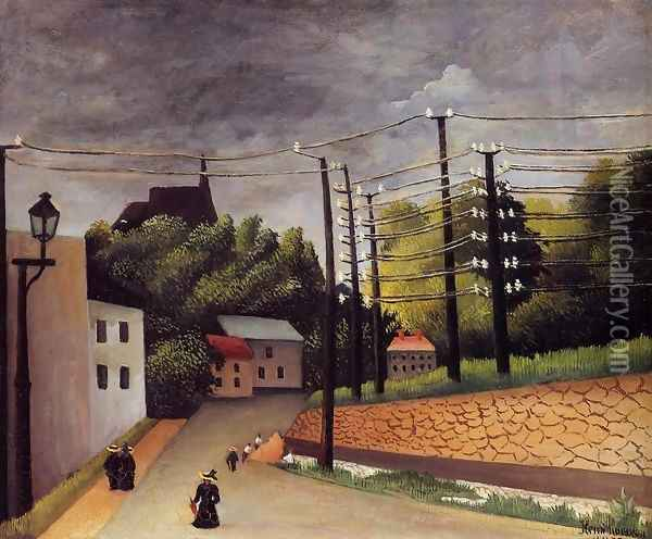 View of Malakoff Oil Painting - Henri Julien Rousseau