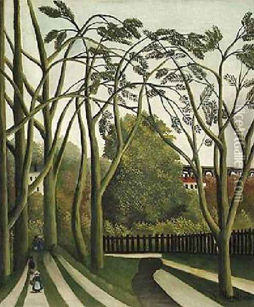 The Banks Of The Biere Near Bicere Oil Painting - Henri Julien Rousseau