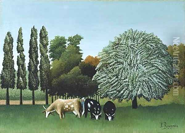 The Banks of the Oise Oil Painting - Henri Julien Rousseau