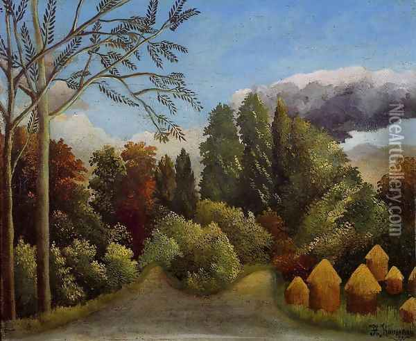 View of the Banks of the Oise Oil Painting - Henri Julien Rousseau