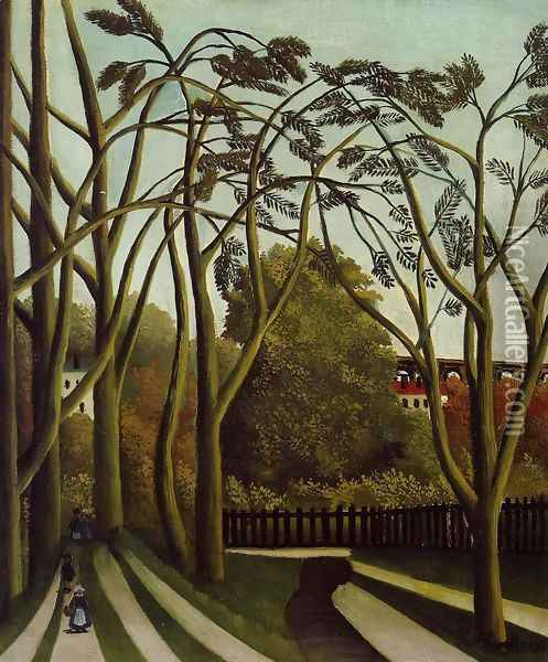 Landscape on the Banks of the Bievre at Becetre, Spring Oil Painting - Henri Julien Rousseau