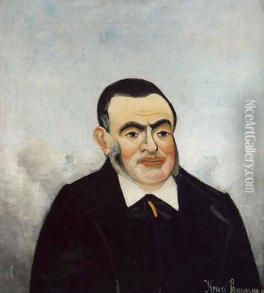 Portrait of a Man Oil Painting - Henri Julien Rousseau