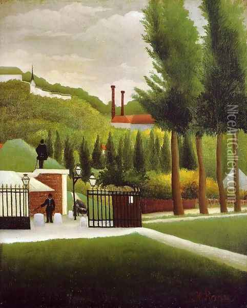 The Customs House Oil Painting - Henri Julien Rousseau