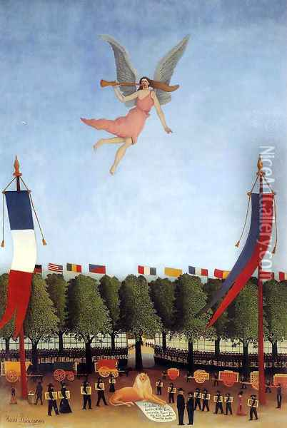 Liberty Inviting Artists at the Society of Independent Artis Oil Painting - Henri Julien Rousseau