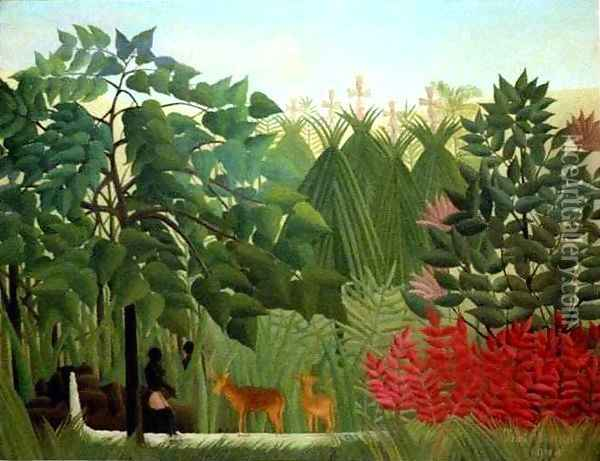 The Waterfall Oil Painting - Henri Julien Rousseau