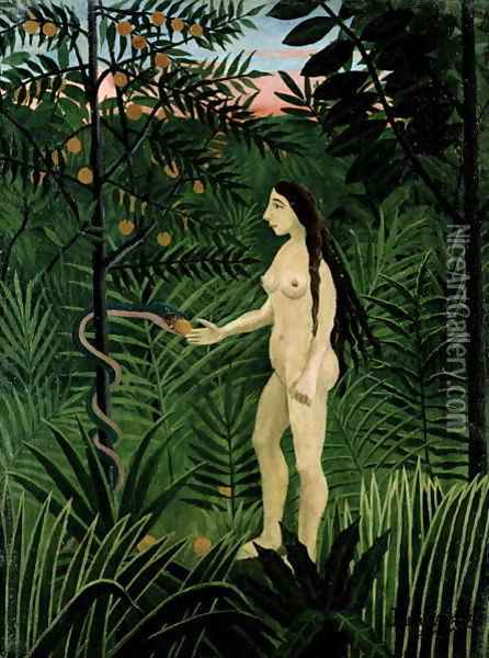 Eve 1906 07 Oil Painting - Henri Julien Rousseau
