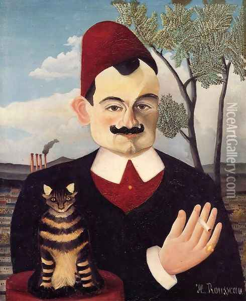 Portrait of Mr X (Pierre Loti) 1905-1906 Oil Painting - Henri Julien Rousseau