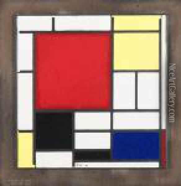 Composition In Red Yellow Blue And Black (1921) Oil Painting - Piet Mondrian