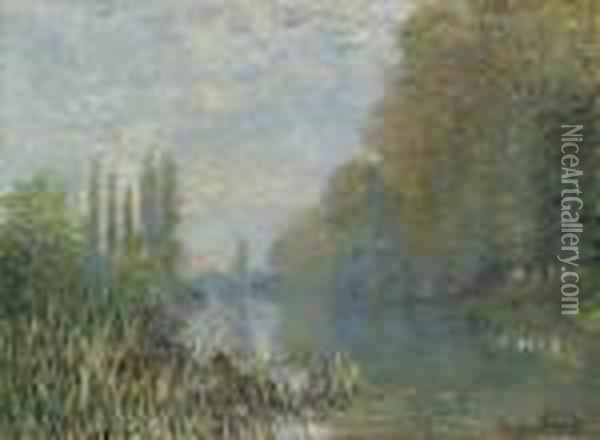 Bords De La Seine En Automne Oil Painting - Claude Oscar Monet