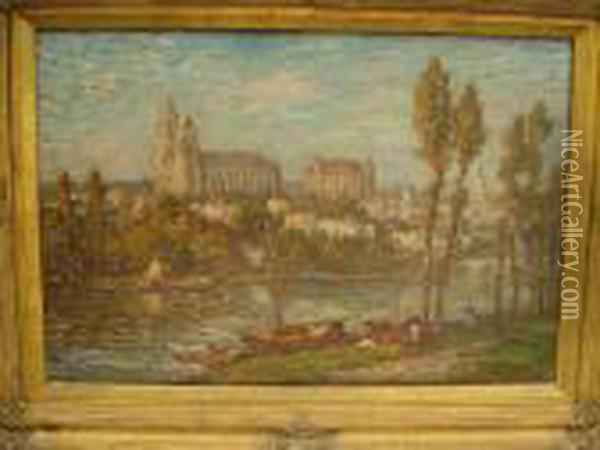 View Of A French Town Oil Painting - Claude Oscar Monet