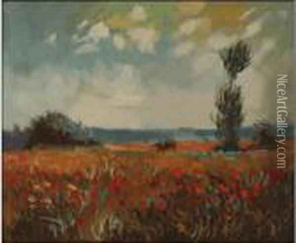 The Fields Of Poppies Oil Painting - Claude Oscar Monet